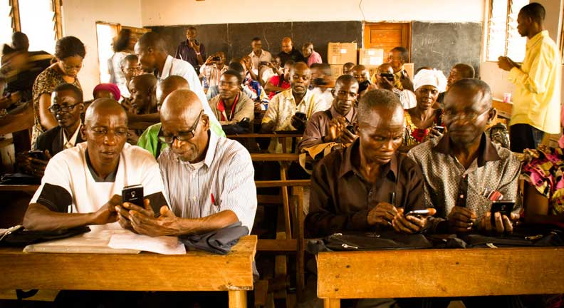 First Training for Data Collection Using Cell Phones Proves Successful in DRC